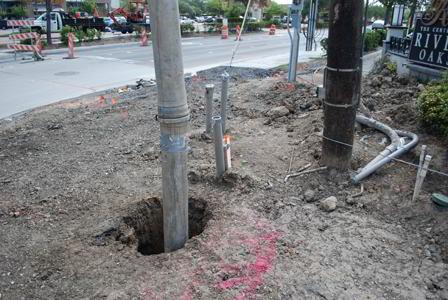 Pole Hole Vacuum Excavation