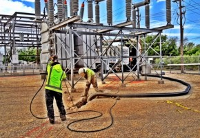 Hydro Trenching in Electrical Substation